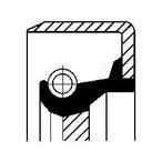 Pierscień uszczelniający wału skrzyni biegów CORTECO 01026396B