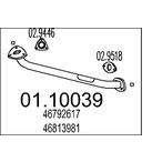 Rura wydechowa MTS 01.10039