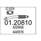 Przewód elastyczny układu wydechowego MTS 01.20810