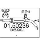 Tłumik środkowy MTS 01.50236