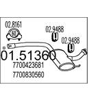 Tłumik środkowy MTS 01.51360