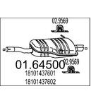Tłumik końcowy MTS 01.64500
