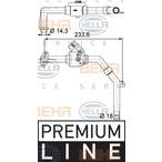 Zawór sterujący płynu chłodzącego HELLA 9XL 351 328-171