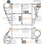 Chłodnica powietrza doładowującego - intercooler HELLA 8ML 376 700-704