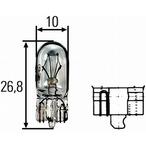 Żarówka, oświetlenia tablicy przyrządów HELLA 8GA 008 901-241