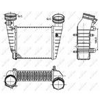 Chłodnica powietrza doładowującego - intercooler NRF 30147A