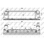 Chłodnica powietrza doładowującego - intercooler NRF 30482