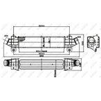 Chłodnica powietrza doładowującego - intercooler NRF 30840