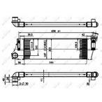 Chłodnica powietrza doładowującego - intercooler NRF 30899