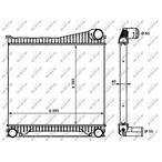 Chłodnica powietrza doładowującego - intercooler NRF 30913