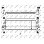 Chłodnica powietrza doładowującego - intercooler NRF 30918