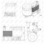 Chłodnica oleju silnikowego NRF 31193