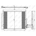 Chłodnica klimatyzacji - skraplacz NRF 350053