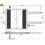 Chłodnica klimatyzacji - skraplacz NRF 35049