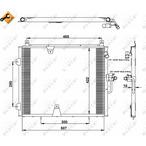 Chłodnica klimatyzacji - skraplacz NRF 35129