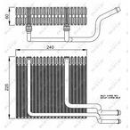 Parownik klimatyzacji NRF 36151