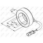 Cewka, sprzęgło elektromagnetyczne kompresora NRF 38470