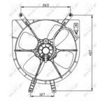 Wentylator chłodnicy silnika NRF 47042