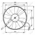 Wentylator chłodnicy silnika NRF 47046