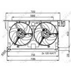 Wentylator chłodnicy silnika NRF 47051
