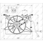 Wentylator chłodnicy silnika NRF 47460