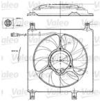 Wentylator chłodnicy silnika VALEO 698552