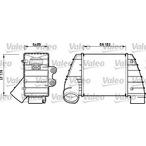 Chłodnica powietrza doładowującego - intercooler VALEO 817487