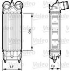 Chłodnica powietrza doładowującego - intercooler VALEO 818227