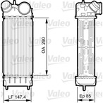 Chłodnica powietrza doładowującego - intercooler VALEO 818241