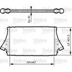 Chłodnica powietrza doładowującego - intercooler VALEO 818840
