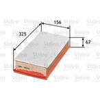 Filtr powietrza VALEO 585052