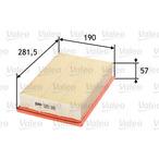 Filtr powietrza VALEO 585186