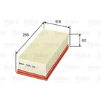 Filtr powietrza VALEO 585211