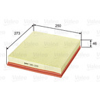 Filtr powietrza VALEO 585224