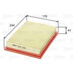 Filtr powietrza VALEO 585250