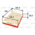 Filtr powietrza VALEO 585277