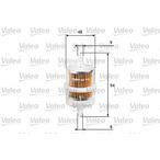 Filtr paliwa VALEO 587013
