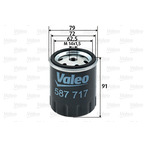 Filtr paliwa VALEO 587717