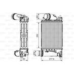 Chłodnica powietrza doładowującego - intercooler VALEO 817175