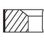 Zestaw pierscieni tłoka MAHLE 002 19 N1