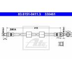 Przewód hamulcowy elastyczny ATE 83.6151-0411.3