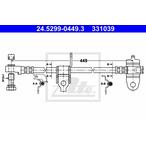 Przewód hamulcowy elastyczny ATE 24.5299-0449.3