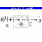 Przewód hamulcowy elastyczny ATE 24.5241-0721.3