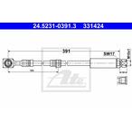Przewód hamulcowy elastyczny ATE 24.5231-0391.3