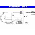 Linka sterowania sprzęgłem ATE 24.3728-0524.2