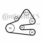 Zestaw paska klinowego wielorowkowego CONTINENTAL CTAM 6PK1613K1