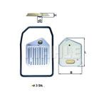 Filtr hydrauliczny automatycznej skrzyni biegów KNECHT HX 163KIT
