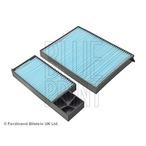 Komplet filtrów, wentylacja przestrzeni pasażerskiej BLUE PRINT ADG02540