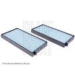 Komplet filtrów, wentylacja przestrzeni pasażerskiej BLUE PRINT ADG02575