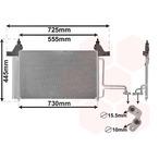Chłodnica klimatyzacji - skraplacz VAN WEZEL 17005253